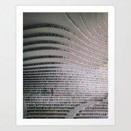 Sea of Books Art Print