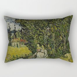 Cypresses and Two Women Rectangular Pillow