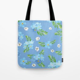 Myosotis pattern Tote Bag
