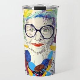 Iris Apfel Fanart Travel Mug