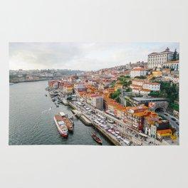 Beautiful Porto. Ribeira area and the Douro River. Rug