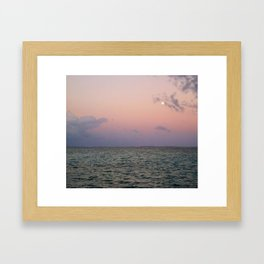 Moon rising over San Pedro Framed Art Print