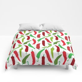 New Mexico Christmas Hatch Chiles in White Comforters