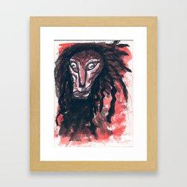 Miss Stress Framed Art Print