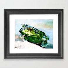 Ribbit Framed Art Print