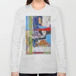 Abstract Mixed Media Compositon V.Threeve Long Sleeve T-shirt