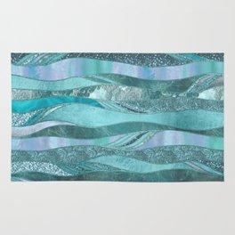 Precious Aqua And Turquoise Glamour Rug