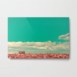 Desert House - Turquoise Metal Print