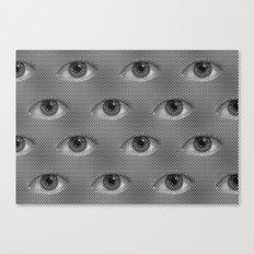 Pop-Art Black And White Eyes Pattern Canvas Print