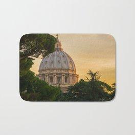 Sunset At The Vatican Bath Mat