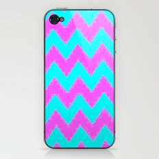 Mint and Pink chevron iPhone & iPod Skin