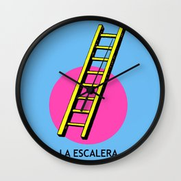La Escalera Mexican Loteria Card Wall Clock