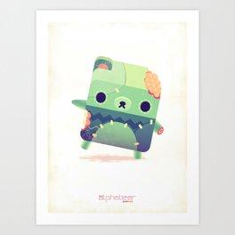 Zombie Bear Art Print