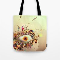 third eye Tote Bags featuring Third Eye by Igor Šćekić