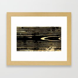Golden wooden texture. Black and gold antique wood. Framed Art Print