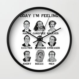 Nicholas Cage - Today I'm Feeling Wall Clock