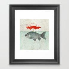 Umbrella Goldfish Framed Art Print