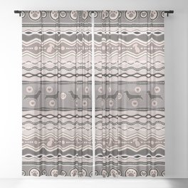Dachshund - Decorative Pattern in pastels Sheer Curtain