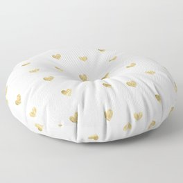 Gold Heart Floor Pillow