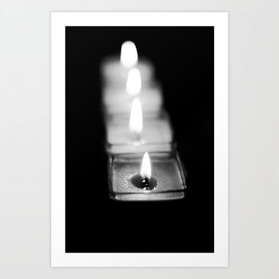 Candles [B&W] Art Print