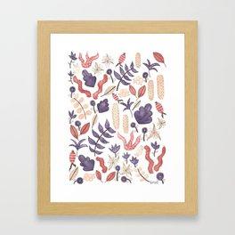 watercolor botanical garden Framed Art Print