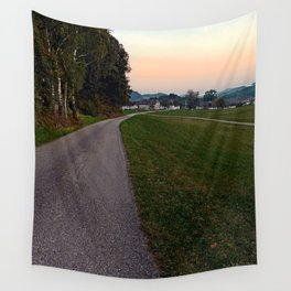 Country road into dawn | landscape photography Wall Tapestry