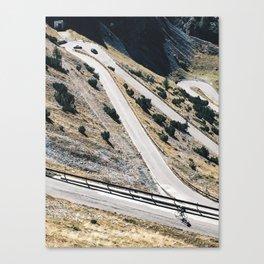 Cycling on Stelvio Pass Canvas Print
