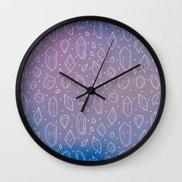 Crystals (Lilac) Wall Clock