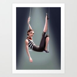 Circus Performer Art Print