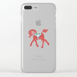 Real Dala Horse #2 Clear iPhone Case