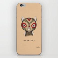 Cat Wrestler iPhone & iPod Skin