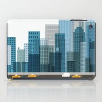 cityscape iPad Cases featuring Cityscape by Keith Negley