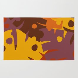 Colorful Graphic Autumn Leaves Rug