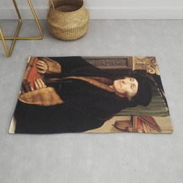 Hans Holbein the Younger - Portrait of Erasmus of Rotterdam Rug