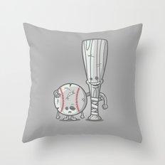Bat-tered Throw Pillow
