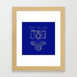 Vintage Camera Patent Blueprint Framed Art Print