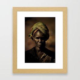 River woman Framed Art Print