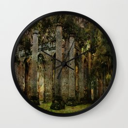 Old Sheldon Church Ruins Wall Clock