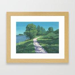 Dappled Path Framed Art Print