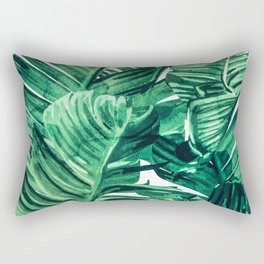 Tropical State of Mind #painting #tropical Rectangular Pillow