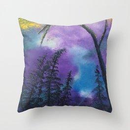 Blissful forest Throw Pillow
