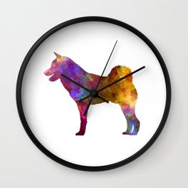 Shiba Inu dog in watercolor Wall Clock