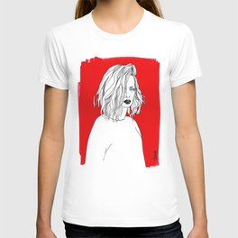 RED SHIRLEY MANSON T-shirt