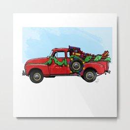 Christmas Delivery Metal Print