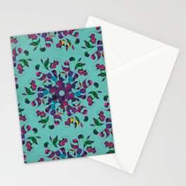 3 Swirl Wallpaper - Teal Stationery Cards