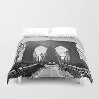 brooklyn bridge Duvet Covers featuring Brooklyn Bridge by Aperture