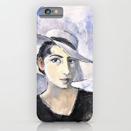 Milena Pavlovic Barili - Self Portrait III - Milena Pavlovic Barili iPhone Case