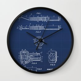 Dental Hand Piece Vintage Patent Hand Drawing Wall Clock
