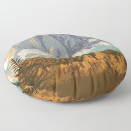Kootenay National Park Floor Pillow