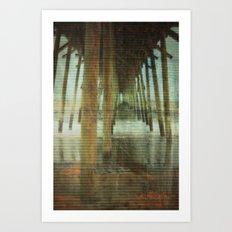 Kure Beach North Carolina Fishing Pier Art Print